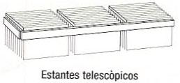 Estante telescópico - Estante telescópico. Medida 60cm de largo