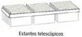 Estante telescópico - Estante telescópico. Medida 120cm de largo