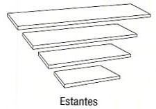 Estante - Estante. Medida 102cm de largo