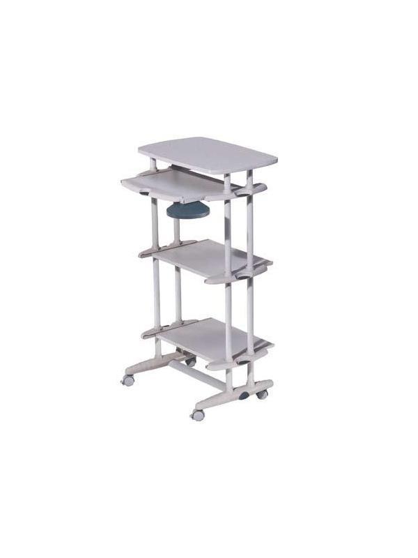 Mesa de ordenador móvil - Mesa ordenador móvil de estructura metálica y embellecedores de plástico, asi como el reposamuñecas de diseño. Fácil montaje. Todas las mesas de ordenador incorporan teclado extraíble.
