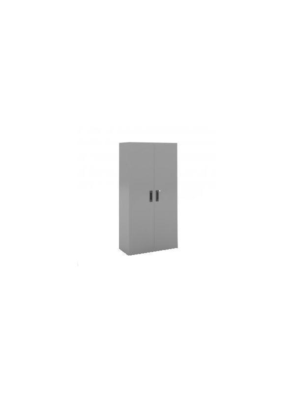 Armario metálico de puertas batientes con 4 estantes - Armario metálico de puertas batientes con 4 estantes.  Medidas 2000 de alto x 1000 de ancho x 450 de fondo