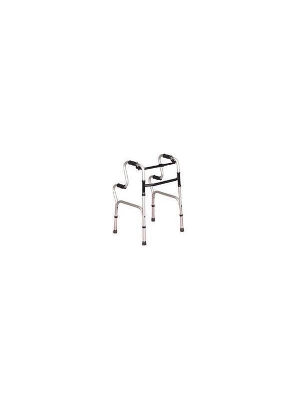 Andador plegable - Andador plegable. Fabricado en Aluminio. Su forma ergonómica permite la incorporación desde la posición de sentado. Graduable en altura.