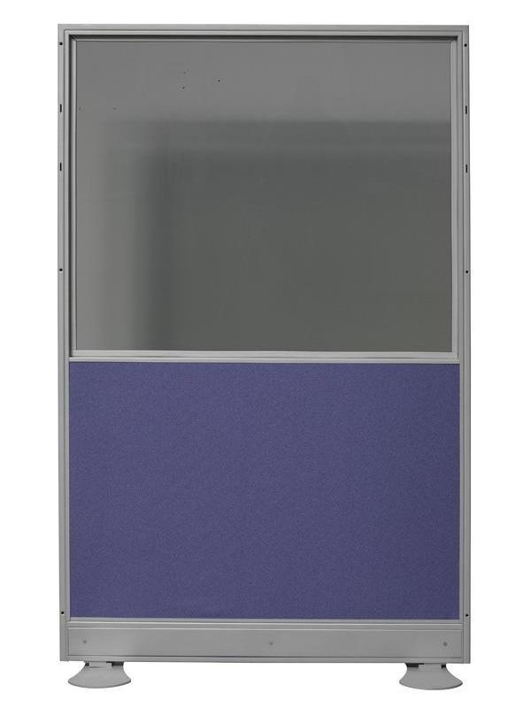 Biombo de mixto: Cristal doble + tapizado - Biombo mixto: cristal doble más tapizado. Medidas 80cm de ancho x 150cm de alto