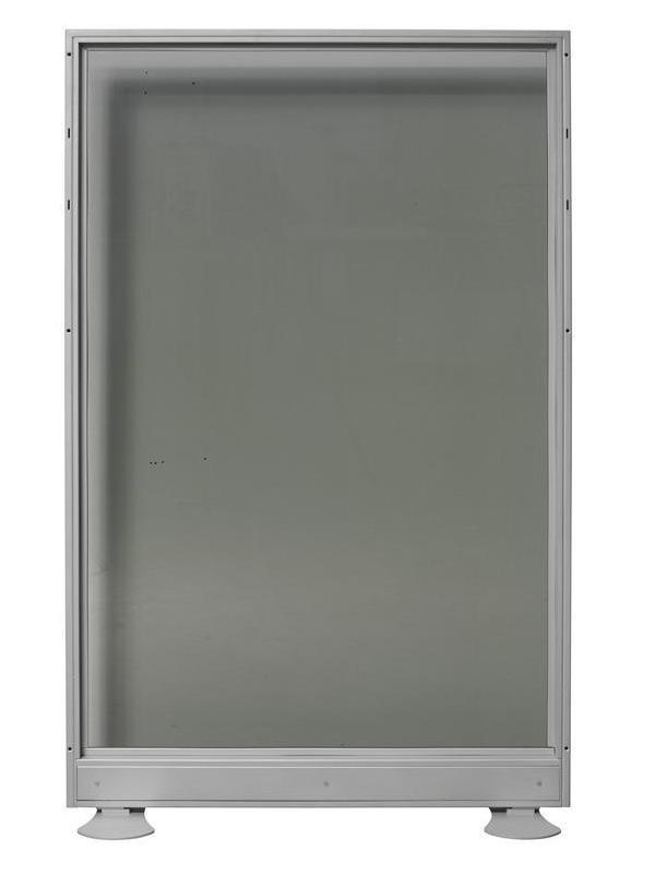 Biombo de cristal doble - Biombo de cristal doble. Medidas 80cm de ancho x 150cm de alto