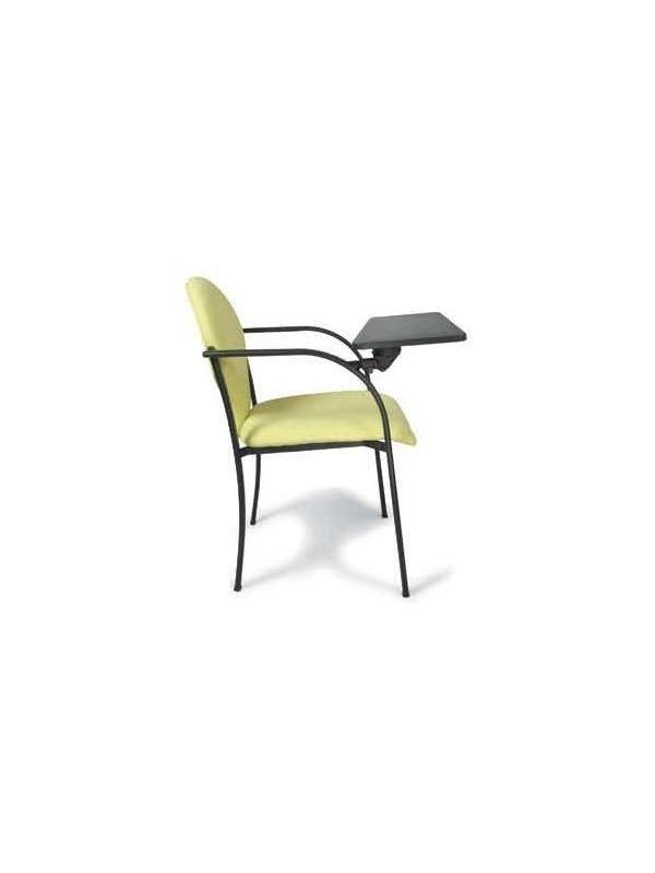 Silla de oficina - Silla confidente. Respaldo y asiento fabricado en recuperado reciclado, al igual que la contra del respaldo dando opción de instalarla en PVC. Apilables entre ellas.
