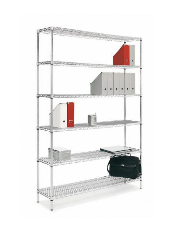 Estantería metálica  -  Estantería metálica modular. Sistema de estantería formado por el perfil de aluminio serie