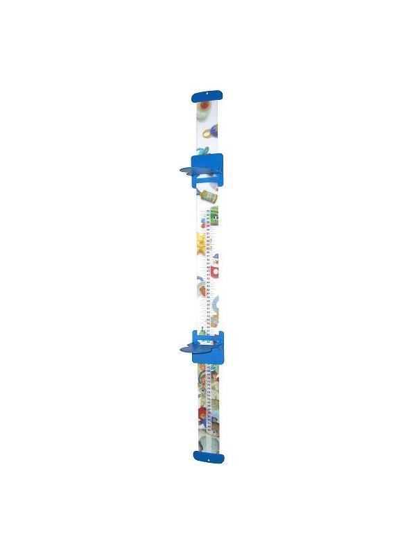 Tallimetro - Tallimetro pediátrico. Materia flexible Seri grafiado con imágenes infantiles. Altura: 25-85 cts. División: 0.5 cts.