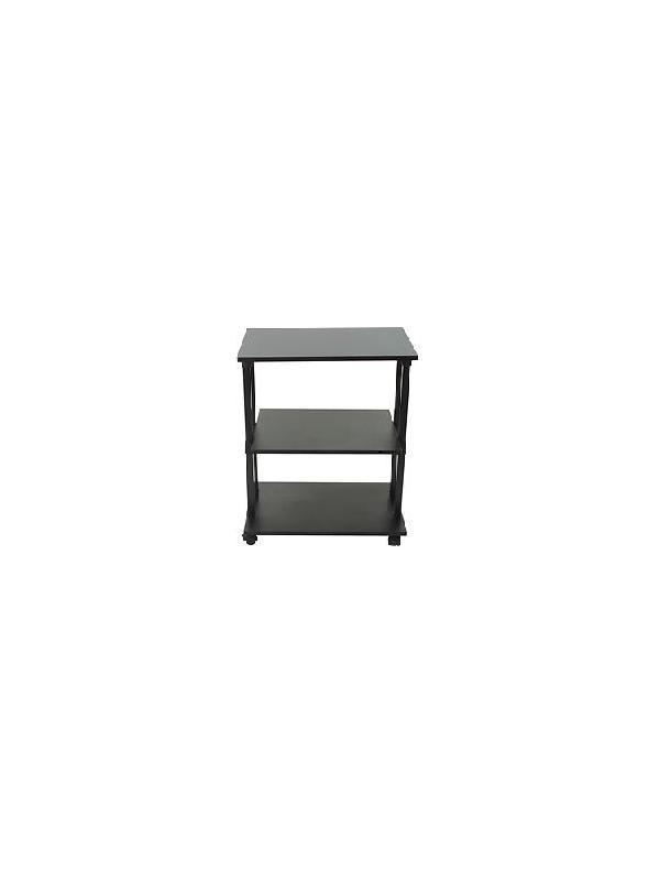 Mesa multifunción - Mesa multifunción acabado tablero con ruedas, disponible en dos alturas, útil como complemento dentro del hogar, la oficina y las aulas de formación. Acabado tablero negro.