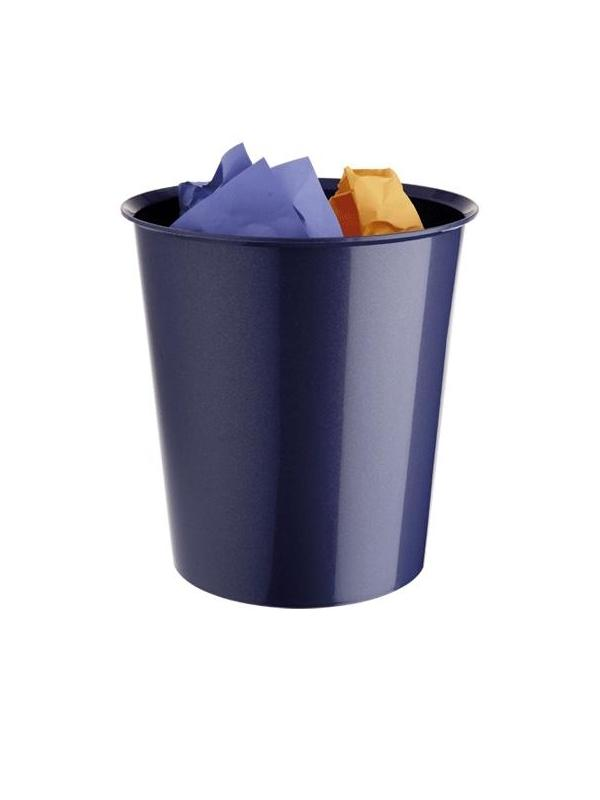 Papelera - Papelera  Incorporación de un aro sujeta bolsas (opcional). Apilable. Colores metalizados. Medidas:290 x 310 mm (fondo x ancho x alto)