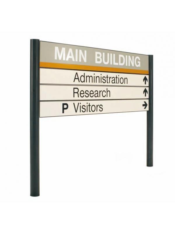 Rótulo para exterior - Rótulo para exterior Rótulo instalado en la parte exterior de los edificios para la orientación, señalización y situación de diferentes lugares exteriores como zonas de entrada, almacenes, párkings, parques temáticos, etc, y para ubicación de lugares en el interior del edificio.