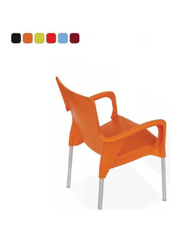 Silla - Silla Silla apilable que une el máximo confort junto a un diseño actual y vitalista. Carcasa en polipropileno y estructura en aluminio. Disponible en una amplia variedad de colores.
