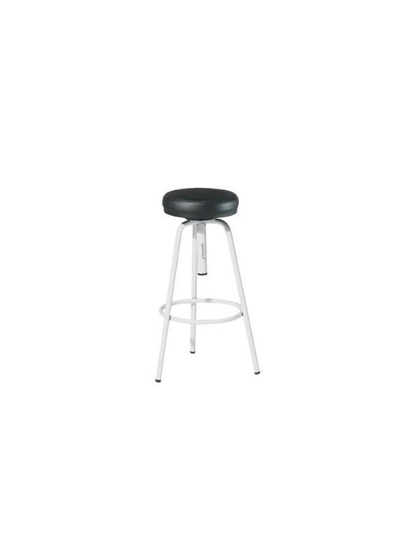 taburete 3 patas - Taburetes con estructura metálica y base de 3 pies. El asiento se regula mediante husillo giratorio. Viene montado.