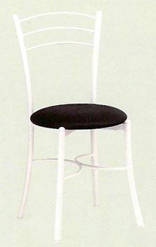 Silla modelo 016 - Estructura en tubo de acero 25x1,2 cromada o pintada con Exposy-poliéster blanco o negro. Asiento en DM recubierto de PVC o tapizado en Michigan tapizado o en Skay sintético.