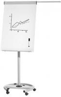 Pizarra m�vil - Pizarra m�vil met�lica regulable en altura mediante muelles. Incorpora bloc de papel de 20 hojas y 2 brazos telesc�picos. F�cil montaje.