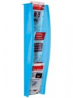 EXpositor mural - Expositor mural con 5 compartimentos Medidas:18 x 115 x 151 mm (fondo x ancho x alto) Características:Colores traslúcidos Formato de Papel:1/3 Din A-4 vertical  DISPONIBLE EN OTRAS MEDIDAS