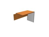 Ala auxiliar para  mesa de oficina basic - Ala para mesa de oficina recta -100 / 80 cm. de larga x 58 cm. de fondo x 74 de altura  -cantearda en pvc anti-golpes
