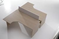 Mesa de oficina compacta 180*120*(80*60)*74 - Mesa de oficina forma compacta con patola de 180cm de largo x 120cm de ancho x 74cm de alto. (pvp por ud.)