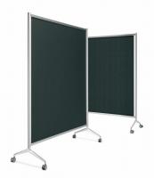 Biombo - Mampara modular �Screen� Mampara modular �Screen� fabricada con perfil de aluminio �Ten� y pies de fundici�n del sistema �Y2�. Su sistema de uni�n abisagrable, permite abrir y cerrar con la apertura de grados necesaria. Disponible con screen (t�xtil) negro, gris y personalizable.