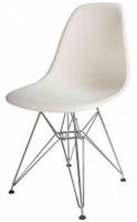 Silla de diseño - Silla de diseño multiusos. -Asiento de carcasa de abs de color blanca. -Base de varillas cromadas. -Disponemos de la misma silla en color roja.