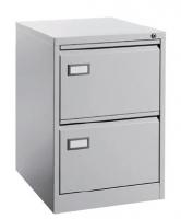 Archivador metálico 2 cajones - Mueble archivador metálico 2 cajones para carpetas colgantes formato DIN A4 horizontal. Medidas exteriores: 620 x 420 x 715 mm