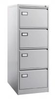 Archivador metálico de 4 cajones - Mueble archivador metálico 4 cajones para carpetas colgantes formato DIN A4 horizontal. Medidas exteriores: 620 x 420 x 1325 mm