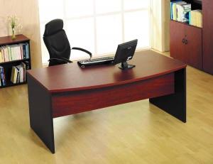 Mesa de oficina curva basic 200*90*74 - Mesa de oficina curva línea basic -200 cm. de larga x 80/90 cm. de fondo x 74 de altura -canteada en pvc anti-golpes (cerezo/grafito o negro fabricacion especial 25-30 días)