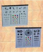 Optotipos - Escala opto tipo para control de visión. Con pantalla de metacrilato serigrafiada. Interruptor de encendido directo. Voltaje 220 V