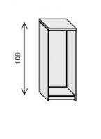 Estantería de biblioteca - Mueble de biblioteca Medida: 106 alto x 47 ancho x 32 fondo