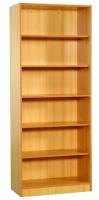 Estanteria - Estantería abierta Realizada en melamina de haya. Provista de 5 baldas. Disponible con puertas.  80 x 40 x 200
