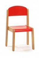 Silla - Silla infantil con estructura en madera de haya, asiento y respaldo en contrachapado lacado. alt. 22, 26, 30 ó 34 cm.