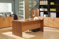 Mesa de oficina basic 180*80*74 cm. - Mesa de oficina línea basic -180 cm. de larga x 80 cm. de fondo x 74 de altura -canteada en pvc anti-golpes