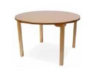 Mesa de geriátrico - Mesa de geriátrico. Mesa con estructura en madera de haya y hueco  de 75 cm hasta el marco. Permite el acceso con sillas, sillones y sillas de ruedas.  Esquinas redondeadas en las encimeras para evitar golpes.