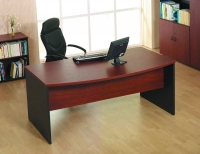 Mesa de oficina curva basic 160*80*74 - Mesa de oficina curva linea basic -160 cm. de larga x 80/90 cm. de fondo x 74 de altura -cantearda en pvc anti-golpes