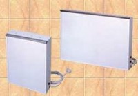 Negatoscopio - Negatoscopios murales. Fabricados en Acero Esmaltado epoxi. Interruptor de encendido directo independiente por pantalla. Pantalla de metacrilato y sistema de sujeción de radiografías. Con toma de tierra.