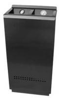 Papelera 2 bocas - Papelera aluminio 400x220x800 mm