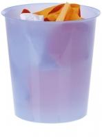 Papelera - Papelera  Incorpación de un aro sujeta bolsas (opcional). Apilable. Colores traslúcidos. Medidas:290 x 310 mm (fondo x ancho x alto)