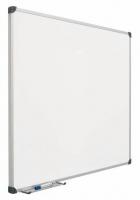 Pizarra mural laminada - Pizarra mural laminada Pizarra mural blanca enmarcada con perfil de aluminio anodizado en color plata mate y cantoneras redondeadas de pl�stico gris. Superficie laminada rotulable en seco. Incluye cajet�n reposarrotuladores de 30 cm.