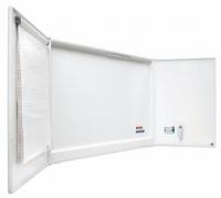 Pizarra tripe blanca grande - Pizarra blanca �Cabinet� Pizarra blanca enmarcada con perfil de aluminio lacado blanco. Superficie magn�tica de acero vitrificado rotulable en seco. Posee 5 superficies de escritura. Incluye soporte para 4 rotuladores, pinza portablocs y pantalla de proyecci�n de 125 x 125 cm.