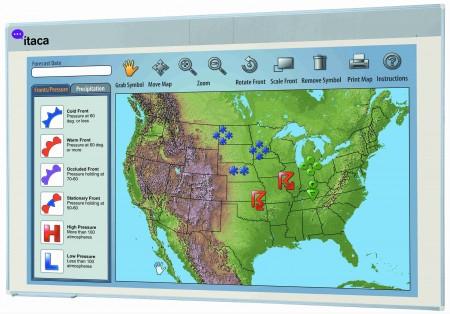 """Pizarra mural interactiva - Dispositivo interactivo """"MIMIO-PS"""" MIMIO-PS es un dispositivo interactivo portátil que convierte una pizarra blanca de borrado en seco en una pizarra digital interactiva. Permite capturar instantáneamente todo lo que se escribe sobre ella y enviarlo a un PC. La escritura queda memorizada."""