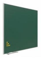 Pizarra verde 734/10 - Pizarra verde acero vitrificado (V) o laminado (L) marco �mini� Pizarra mural verde enmarcada con perfil de aluminio anodizado en color plata mate marco mini a inglete. Incluye cajet�n reposatizas.
