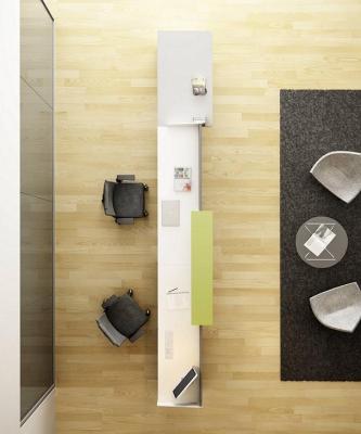 Composición nº 19 de la serie Barcelona - Composición de muebles de la serie Barcelona, ejemplo de distribución de esta nueva serie de mobiliario, mientras introducimos todos los detalles, por favor solicite mas información por teléfono o mail.