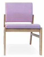 Silla geriátrico - Silla de geriátrico. Estructura en madera de haya maciza con cantos redondeados. Diseño ergonómico de asiento y respaldo. Tapizado especial vinílico de alta resistencia.