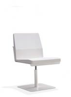 Silla confidente - Silla confidete Estructura de aluminio color blanca Sill�n con revolving Plataforma de Acero