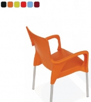 Silla - Silla Silla apilable que une el m�ximo confort junto a un dise�o actual y vitalista. Carcasa en polipropileno y estructura en aluminio. Disponible en una amplia variedad de colores.