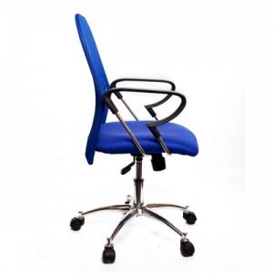 Silla de oficina respaldo red - Silla de oficina operativa.  Silla de base con ruedas de 5 radios y elevación a gas Asiento y resplado en red.  Altura del asiento: H: 45 - 54 cm colores Azul y Negro