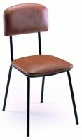 silla escolar - Silla escolar Estructura en tubo de acero 20x1,5 cromada o pintada con Epoxy-poli�ster negro o verde Ral 6011. Asiento y respaldo tapizados en diversos tejidos.