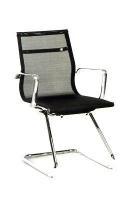 Sill�n confidente/visita de asiento y respaldo en red - Sill�n de Direcci�n de asiento y respaldo alto en red. Brazos y base cromada con ruedas de 5 radios.  Colores Disponibles: Negro, Gris y Blanco.
