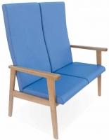 Sof� geri�trico - Sof� geri�trico. Sof� disponible en versiones de dos y tres plazas. La versi�n de tres plazas est� reforzada con una tercera pata. Respaldos y asientos individuales por plaza.