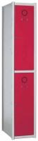 Taquilla modular - • Dispone de barras portaperchas. Taquilla 2 puertas pequeñas  Color cuerpo gris, puertas color a elegir. 1800x280x510 (foto y precio) otras medidas consultar.