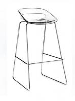Taburete - Taburete Asiento de policarbonato. Estructura cromada.   Disponible con base plana. Solicitar + INFO.